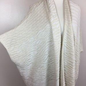 Worthington S Metallic Knit Open Cardigan Sweater